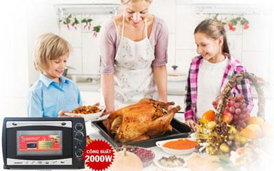 Lò nướng sanaky 50l vh509s gia đình