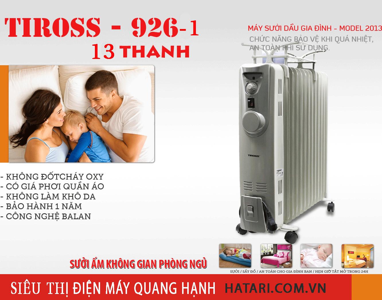 Máy-sưởi-dầu-Tiross-TS926-1 tại hà nội