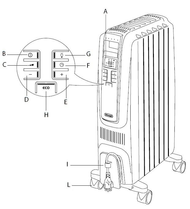 máy sưởi dầu DeLonghi 10 thanh TRD4 1025E